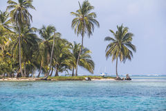小加勒比岛,圣布拉斯海岛 图库摄影