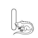小动物字母表哄骗被隔绝的着色页 免版税图库摄影