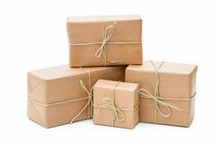 小包包裹与包装纸 库存图片