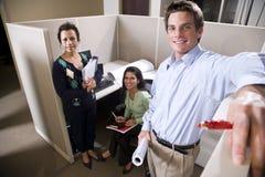 小卧室会议办公室工作者 免版税库存照片