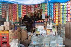 小印地安商店出售每个单一单元经营 免版税库存照片