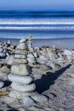 小卵石和岩石堆, 17英里驱动 免版税库存图片
