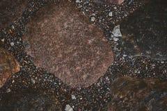 小卵石和石头自然本底 免版税库存照片