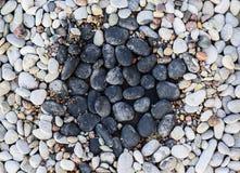 小卵石在假山花园里 免版税图库摄影