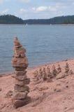 小卵石堆积了 免版税库存图片