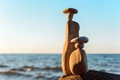 小卵石小雕象  免版税库存图片