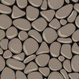 小卵石无缝的样式 石无缝的背景纹理 免版税库存照片