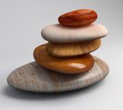 小卵石木头 库存照片