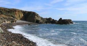 小卵石海滩 影视素材