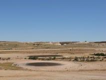 小卵石澳大利亚高尔夫球场  免版税库存图片
