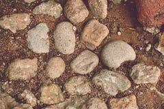 小卵石的路面 图库摄影