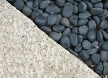小卵石石头 免版税库存照片