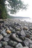 小卵石石海滩 免版税库存照片