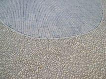 小卵石砖地板 免版税库存照片
