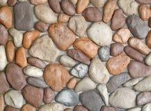 小卵石纹理墙壁 免版税库存图片