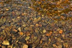小卵石通过水 免版税图库摄影