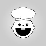 小厨师传染媒介象 免版税库存照片
