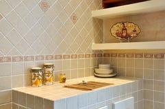 小厨房的平台 图库摄影