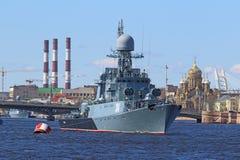 小反潜艇船 库存图片
