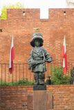 小叛乱者的纪念碑-华沙,波兰 库存图片