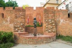 小叛乱者的纪念碑-华沙,波兰 库存照片