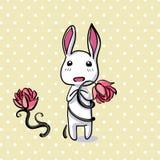 掩藏的复活节兔子卡片以传染媒介格式。 向量例证