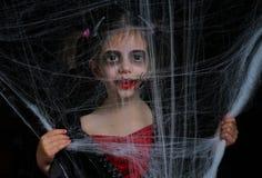 小吸血鬼女孩 库存照片