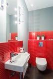 小和典雅的洗手间 库存图片