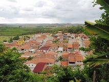 小和舒适村庄在马塞约,巴西 免版税库存照片