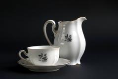 小咖啡杯水罐 免版税图库摄影