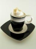 小咖啡杯浓咖啡 图库摄影