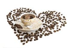 小咖啡杯的早晨 图库摄影