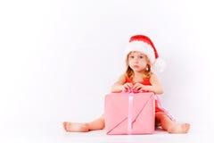 小哀伤的圣诞老人 图库摄影