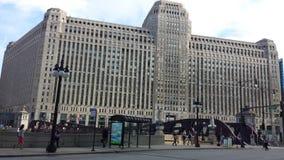 小商店广场在芝加哥 免版税库存图片