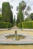 小喷泉在公园 免版税库存图片