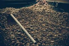 小圆的岩石 免版税库存图片