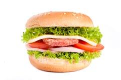 小圆面包三明治 库存照片