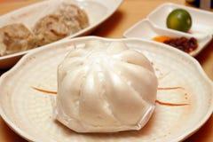 小圆面包中国人猪肉 免版税库存图片