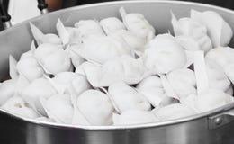 小圆面包中国被蒸的东西 免版税库存图片