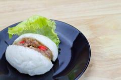 小圆面包中国被蒸的东西 免版税图库摄影