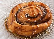 小圆面包五蜂蜜普通话sesa加香料的甜&#2885 库存图片