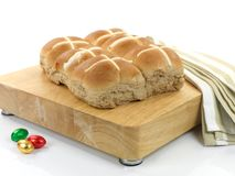 小圆面包交叉热 库存图片