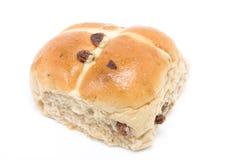 小圆面包交叉热 免版税库存照片