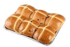 小圆面包交叉热 库存照片