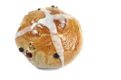 小圆面包交叉热 免版税图库摄影