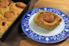 小圆面包南瓜甜点 免版税库存照片