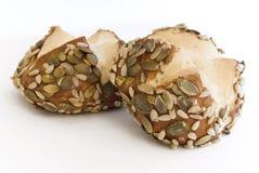小圆面包南瓜籽向日葵 库存照片