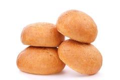 小圆面包新鲜查出的三 免版税图库摄影