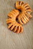 小圆面包有壳的鸦片 库存图片