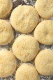 小圆面包汉堡面团上升 图库摄影
